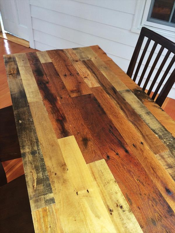 upcycled pallet vintage dining table