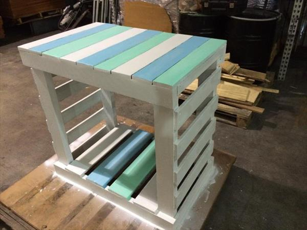 rustic pallet entryway table and side table