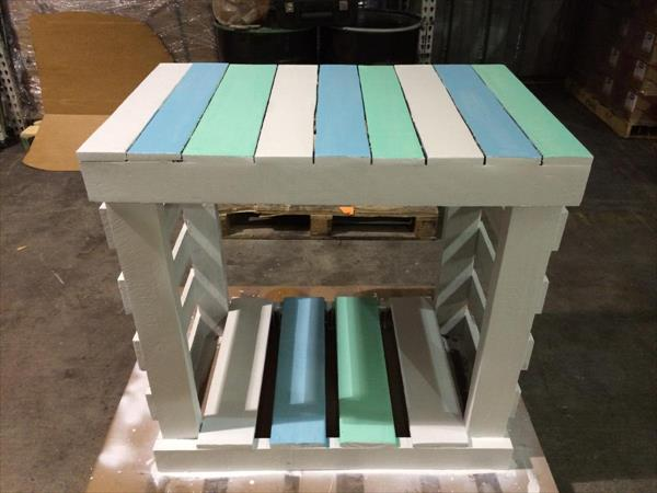 upcycled pallet coffee table and entryway table
