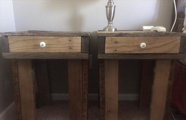 reclaimed pallet nightstands