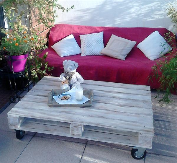 diy pallet patio coffee table
