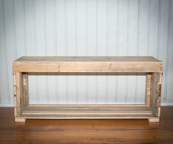 upcycled pallet bench and coffee table