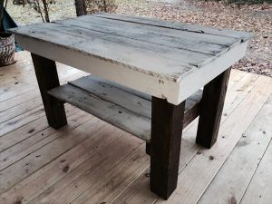 DIY White Rustic Coffee Table