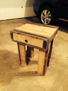 Recycled Pallet Nightstands with Drawers