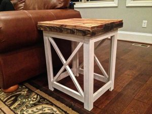 DIY Maple Pallet Side Table or Nightstand