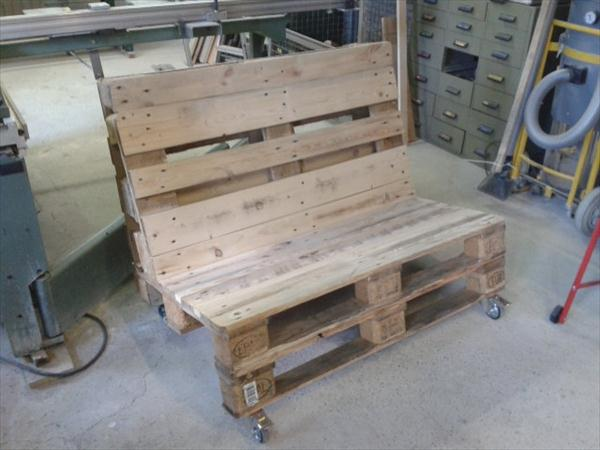upcycled pallet two seated sofa