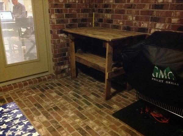 reclaimed pallet high top table