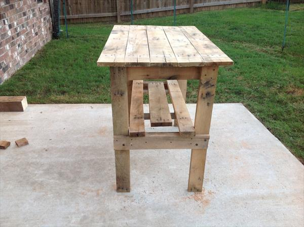 rustic yet modern pallet high top table