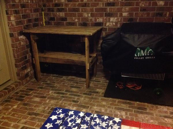 upcycled pallet vintage double tiered table
