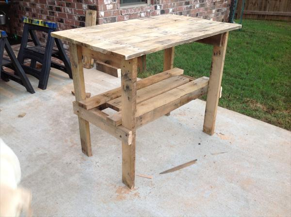 repurposed pallet high top table
