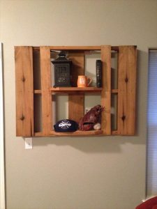 DIY Pallet Custom-Built Shelf