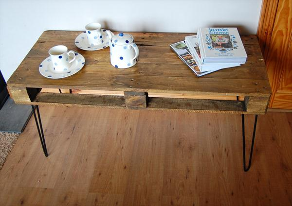 wooden pallet industrial style vintage coffee table