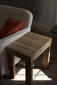 Built Reclaimed Pallet Side Table