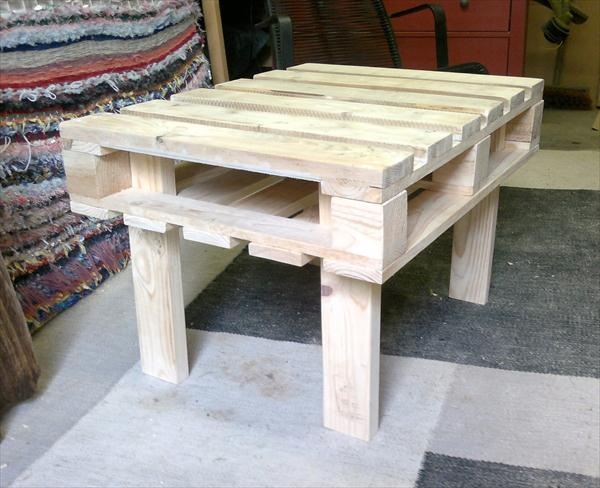 reclaimed pallet coffee table and side table