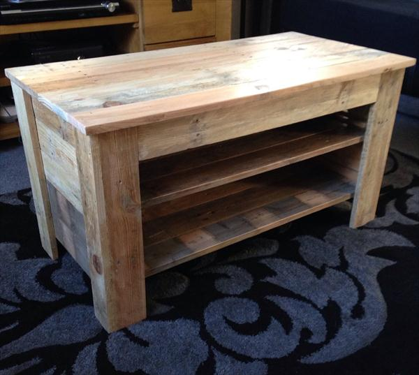 reclaimed pallet TV stand and console table