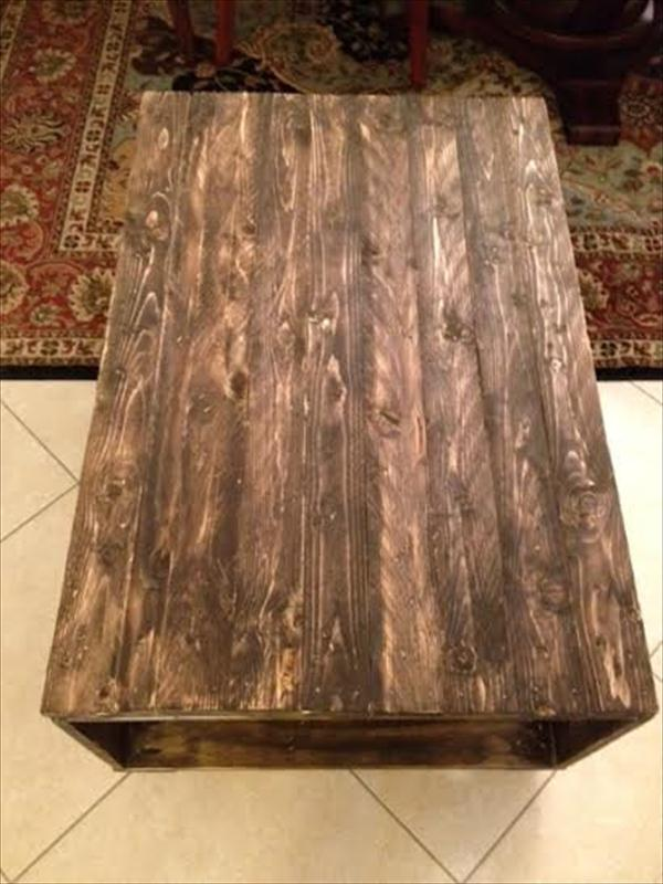 rustic yet sturdy pallet rolling coffee table