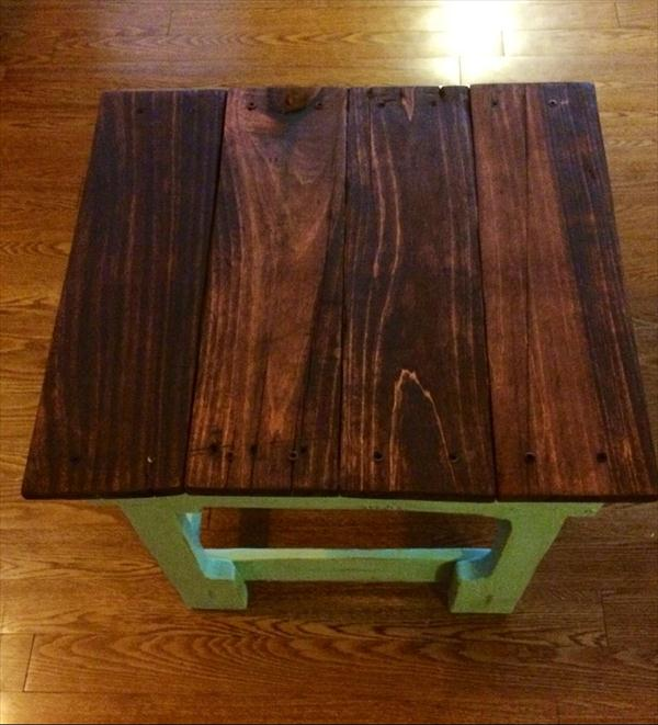 repurposed pallet shabby chic side table