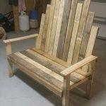 Rustic DIY pallet Outdoor Bench