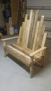 Rustic DIY pallet Outdoor Bench