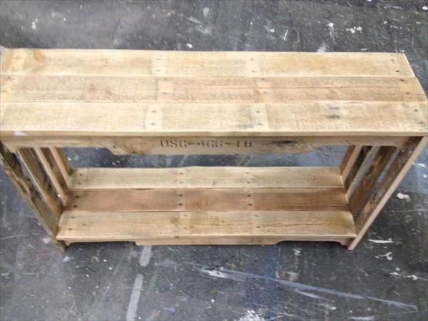 diy pallet couch table and bookshelf
