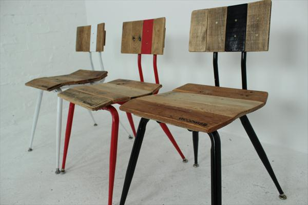 repurposed pallet vintage chairs