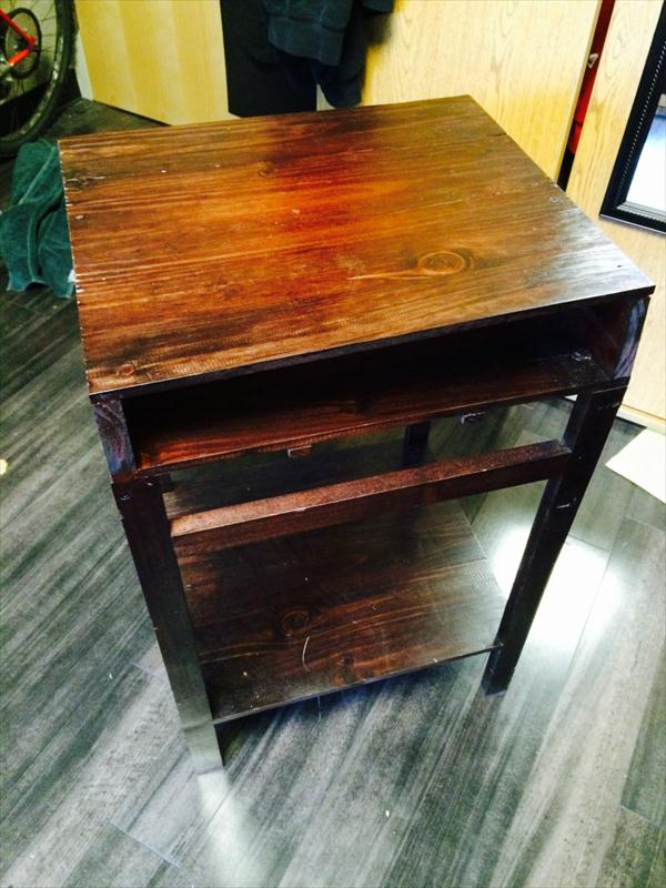 rustic yet sturdy pallet desk and side table