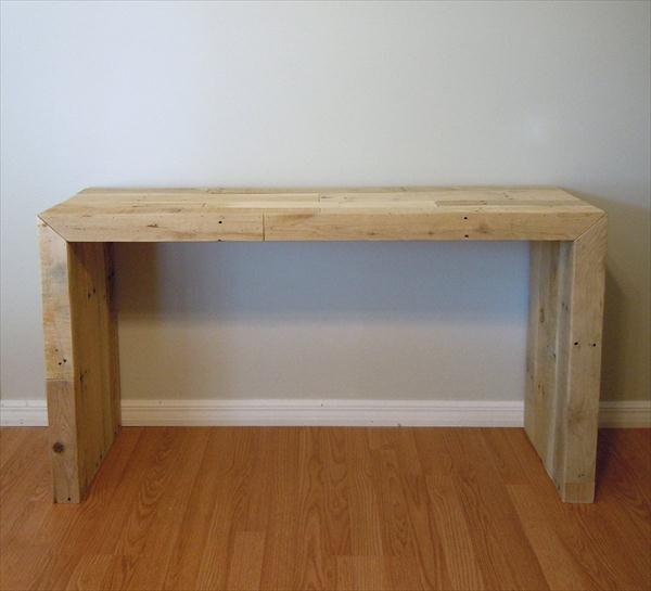 upcycled pallet console table