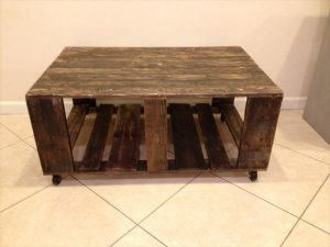 DIY Ultra-Rustic Pallet Wood Coffee Table