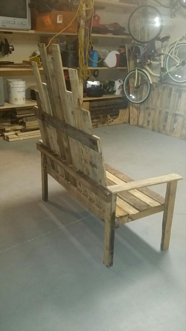 handmade pallet porch bench