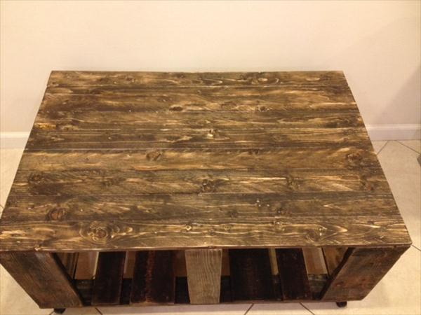 repurposed pallet ultra rustic coffee table with wheels