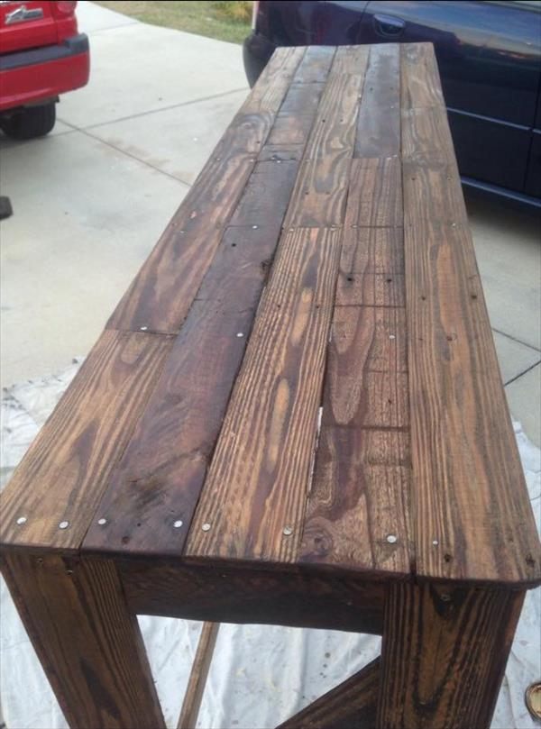 recycled pallet x long table