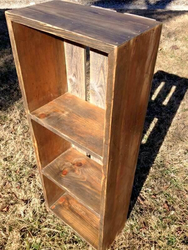 recycled pallet custom built shelf