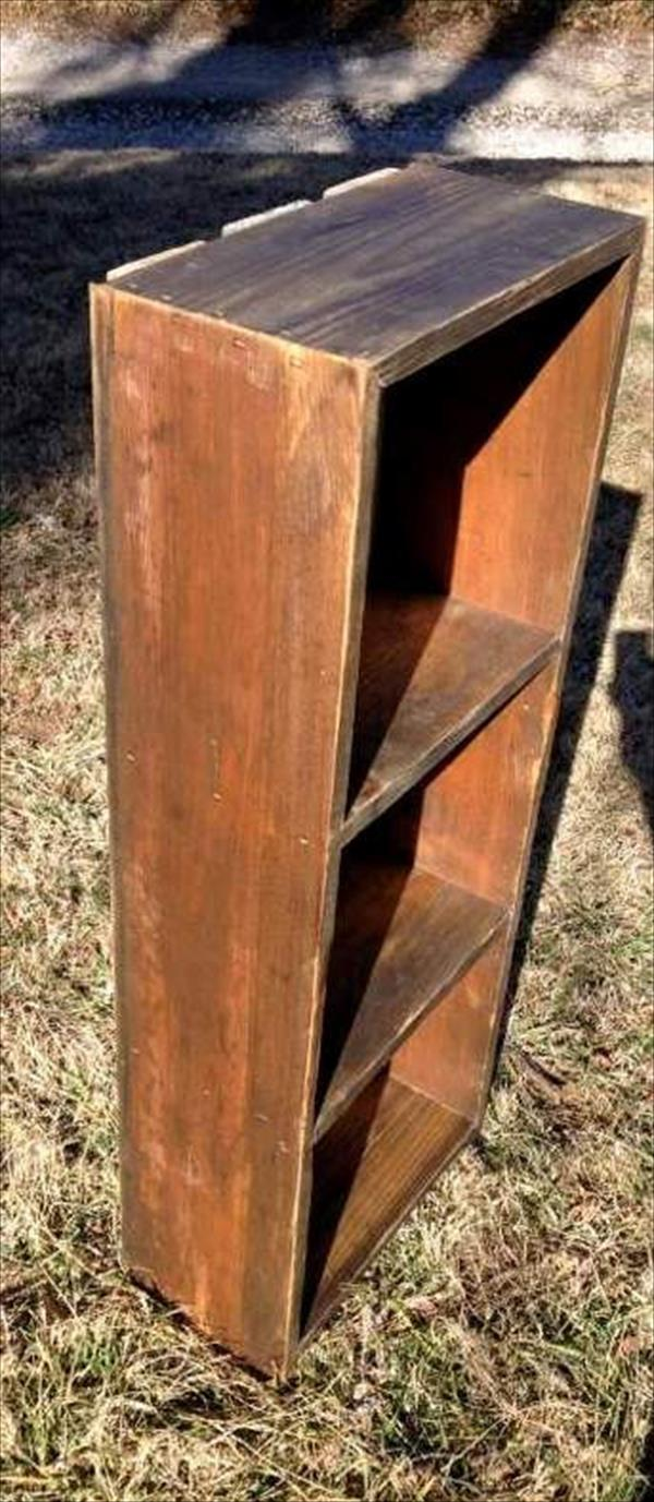 upcycled pallet wood rustic shelf