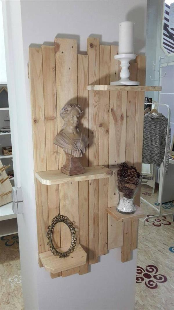 Diy Pallet Wood Art Wall Shelf Pallet Furniture Plans