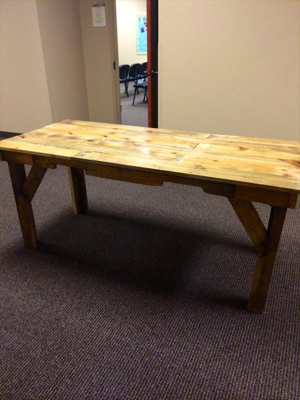 Diy Pallet Wood Dining Table Pallet Furniture Plans