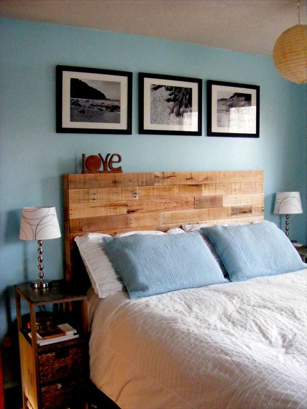 Diy Reclaimed Wooden Pallet Headboard Pallet Furniture Plans