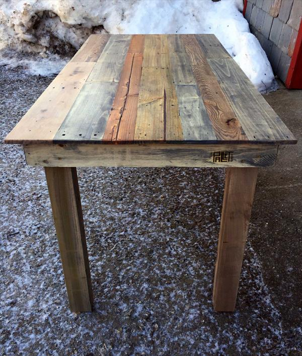 handcrafted pallet kitchen table