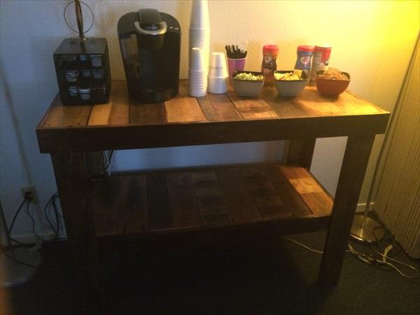 repurposed pallet multipurpose table