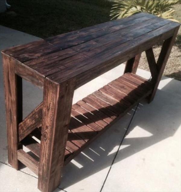 handmade pallet x-long table