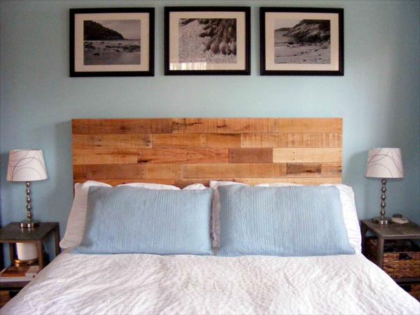 antique repurposed pallet headboard