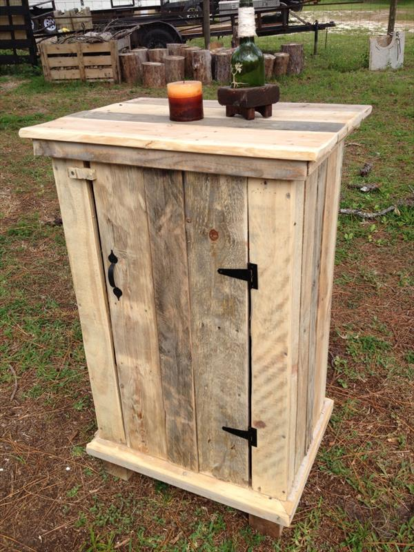 recycled pallet storage cabinet