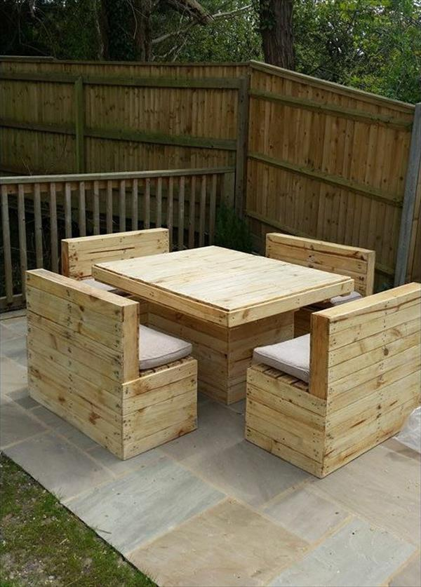 recycled pallet garden sitting furniture