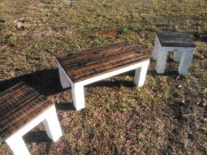 DIY Pallet Farmhouse or Porch Table Set
