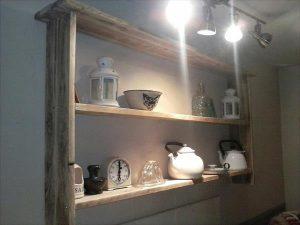 Antique Pallet Shelf