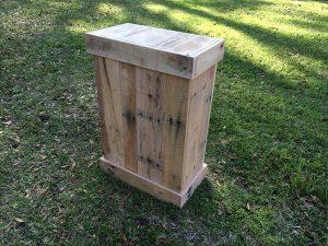 DIY Wooden Pallet Trash Bin