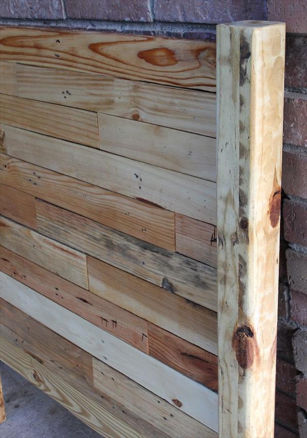 repurposed pallet headboard