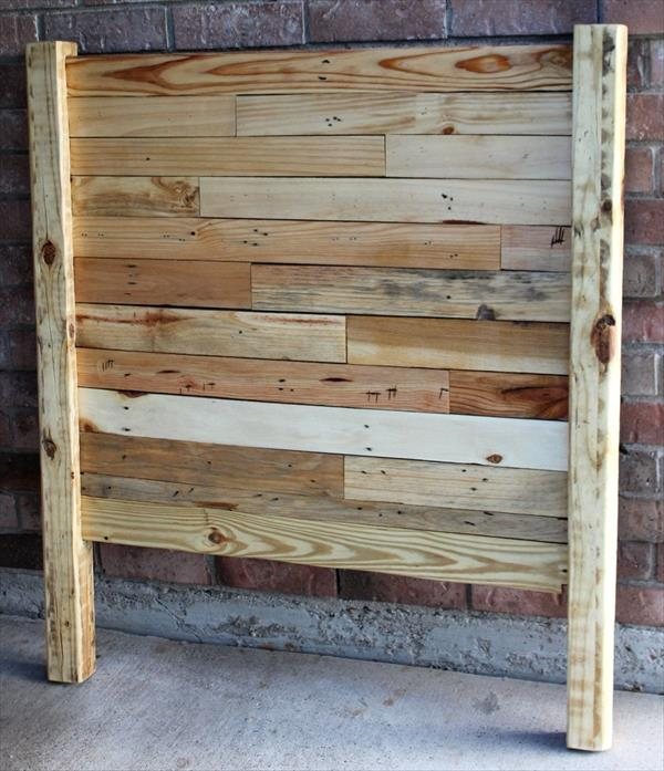 headboard made of pallets