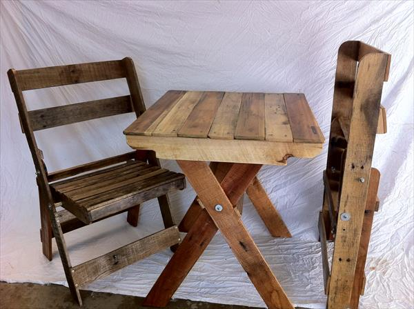 recycled pallet portable kits furniture