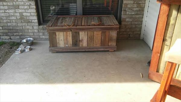reclaimed rustic pallet double cooler bench