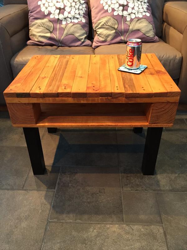 diy pallet sturdy coffee table